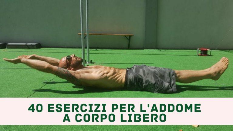40 Esercizi per l'addome a corpo libero